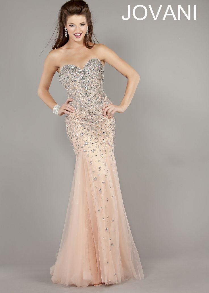 Jovani 6837 beaded mermaid gowns for Jovani mermaid wedding dresses