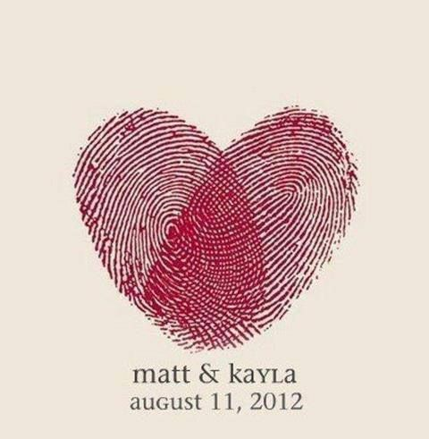 As a save the date or an invite - it doesnt get any more personal than your finger print xx  I'm loving this!