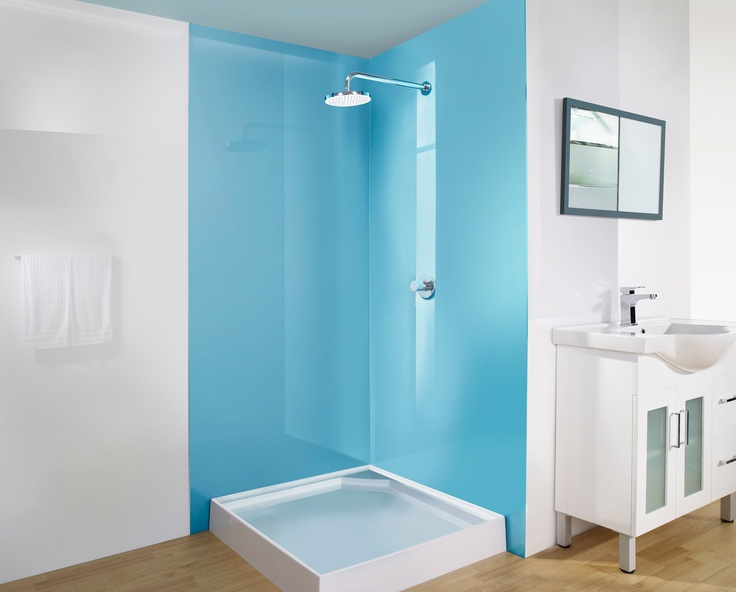 back painted plastic glass shower wall for the home