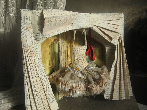 RESERVED Assemblage Art  The Red Shoes Hans by MesssieJessie