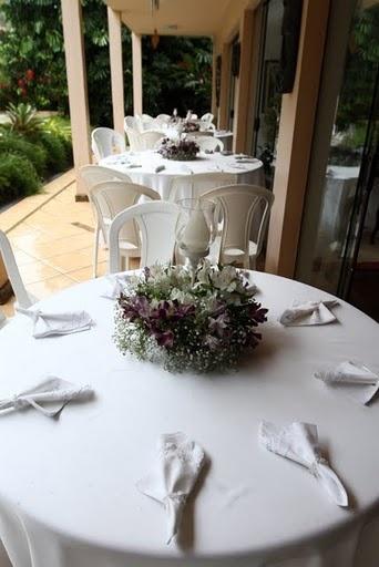decoracao mesa casamento simples