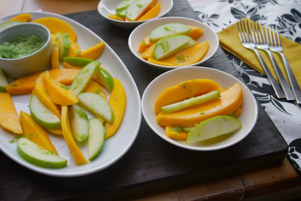 mango apple salad with sugared lime zest | food | Pinterest