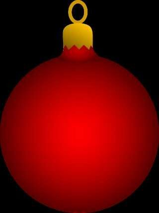 RED CHRISTMAS ORNAMENT | CLIP ART - CHRISTMAS - CLIPART | Pinterest