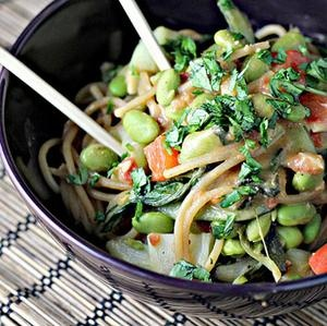 Peanut Noodle Salad with Edamame and Bok Choy Recipe. Getting Bok Choy ...