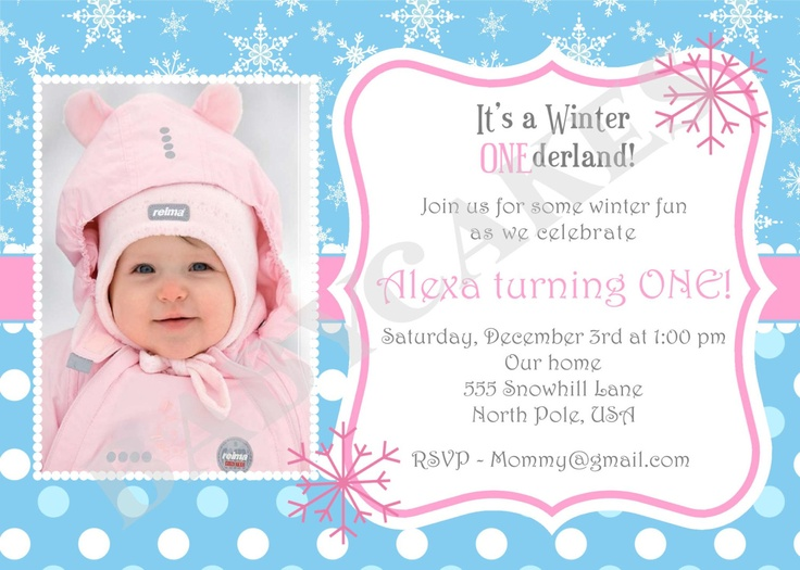 Winter Onederland Invitation was great invitation example