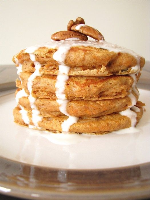 Carrot Cake Pancakes | Food Breakfast | Pinterest
