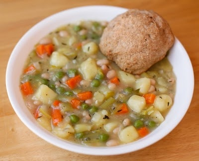 Leek and Bean Cassoulet with Biscuits | food recipes | Pinterest