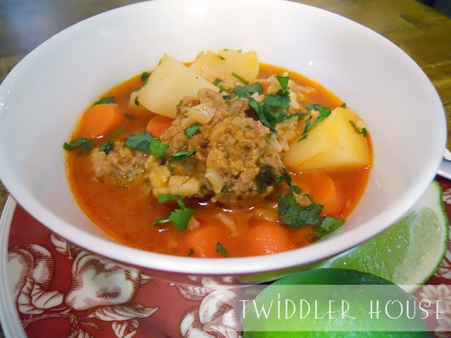 Mexican Meatball Albondigas Soup Recipe — Dishmaps