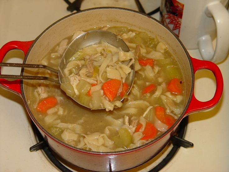 ... Turkey Noodle Soup. Use leftover turkey. Homemade egg noodles too
