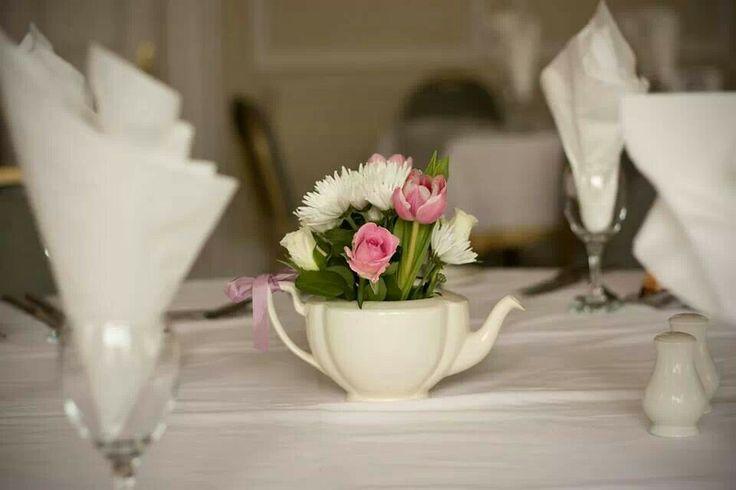 Flower Pot Table Decoration Festival Wedding Ideas