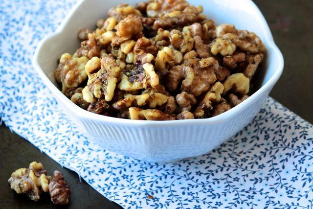 Roasted Rosemary Walnuts Recipe — Dishmaps