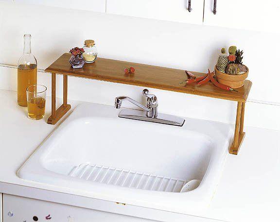 Bamboo over the sink shelf homebody pinterest