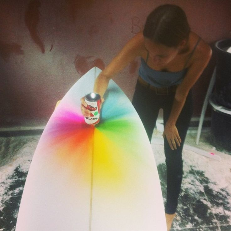 Cool Spray Paint Ideas Part - 22: Cool Spray Paint Idea For New Surfboard Surf