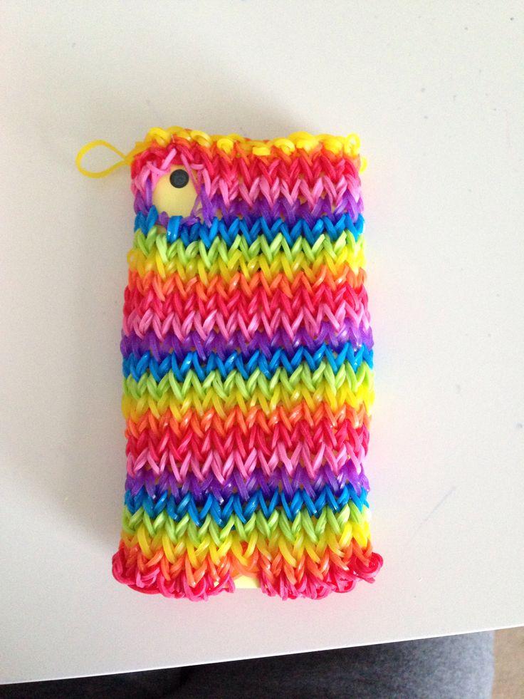 My rainbow loom phone case. (Back)
