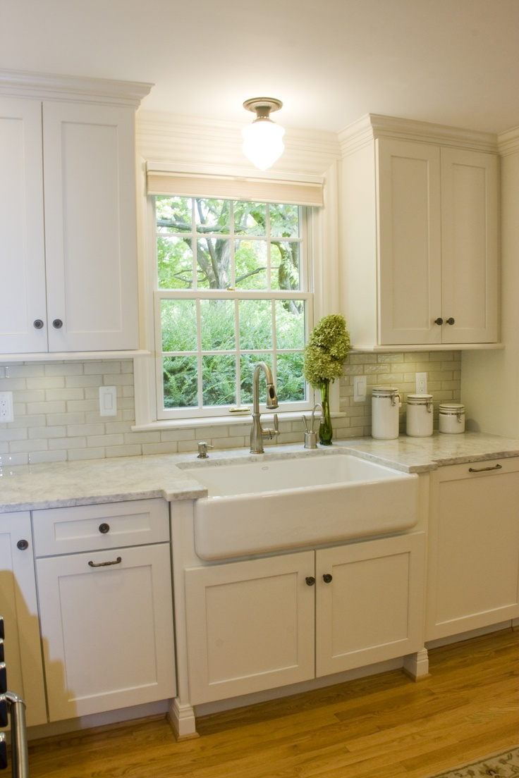 Farmhouse Sink White Cabinets : White Cabinets,White farm sink ! Mauk Cabinets by Design Pinterest