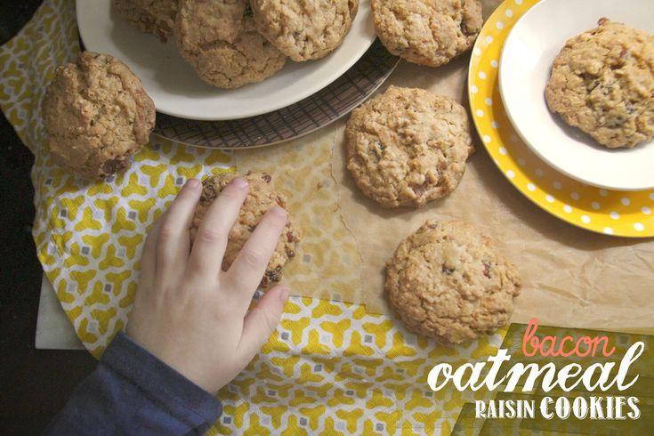 bacon oatmeal raisin cookies | recipies - cookies | Pinterest