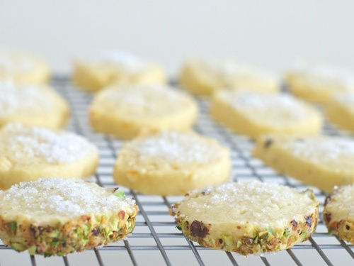 Shortbread with Lavender, Caraway, Lemon or Pistachio and Cardamom