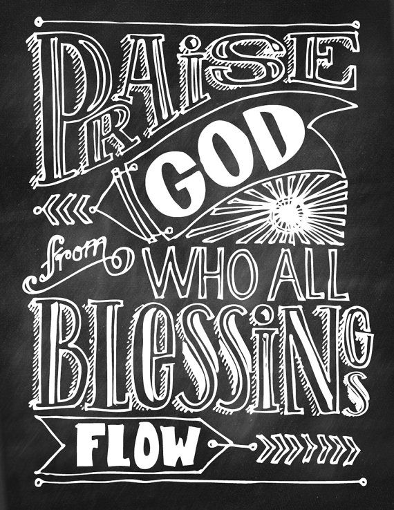Praise God From Who All Blessings Flow by RootedInPaper on Etsy, $10.00
