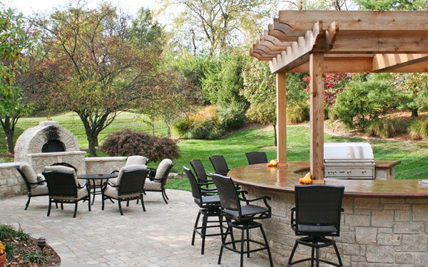 Fall outdoor dining area like bar design home ideas - Outdoor eating area designs ...