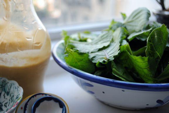 favorite salad dressing: miso tahini. www.theloudandclear.com