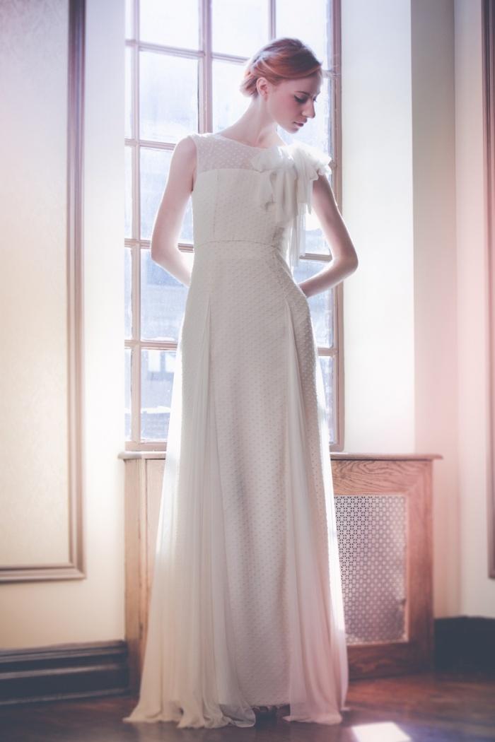 Swiss dot wedding dress for Dotted swiss wedding dress