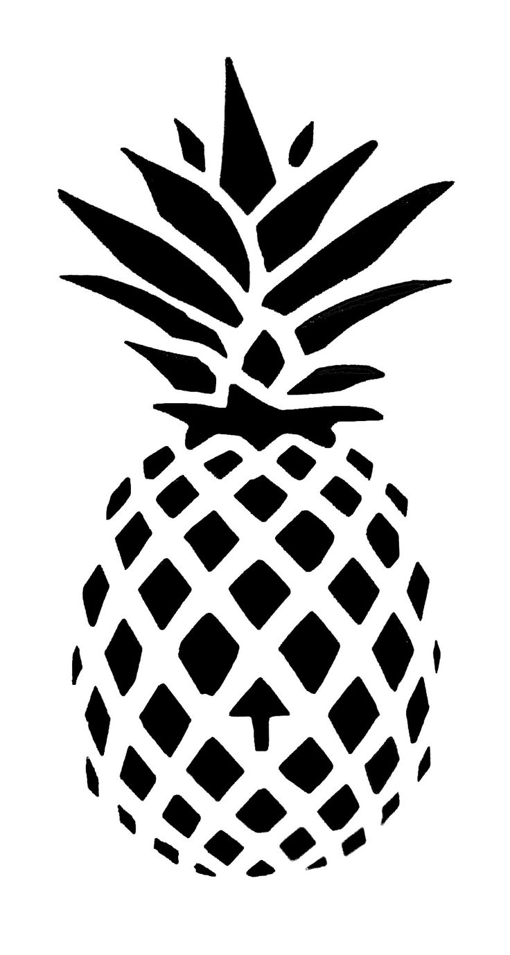 This is an image of Peaceful Pineapple Stencil Printable