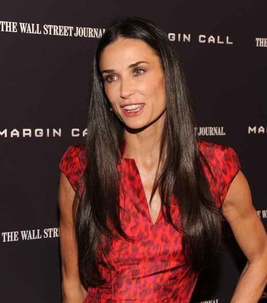 Demi Moore is totally single, no vampire hunk from True Blood for her! #trueblood