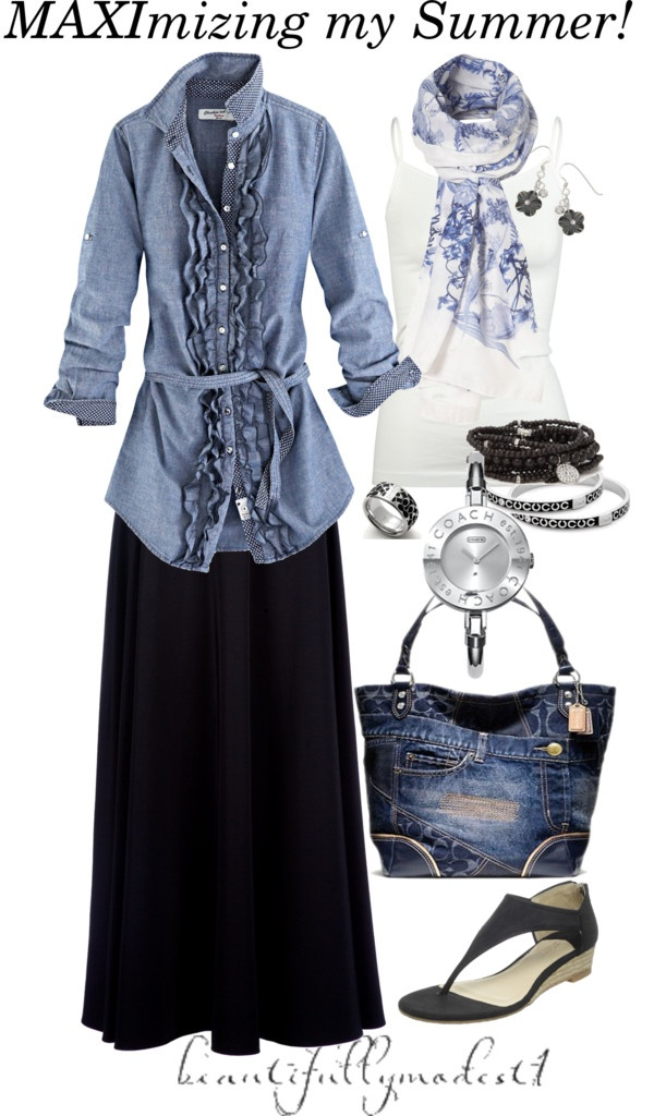 """Summer 2012!"" by beautifullymodest1 ❤ liked on Polyvore"