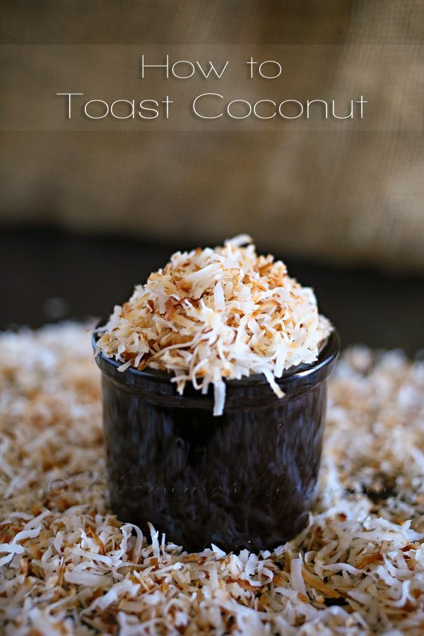 How to Toast Coconut from Kleinworth & Co.