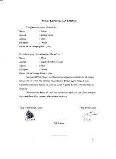 contoh surat kuasa bank mandiri - http://semangats.com/surat-2/contoh