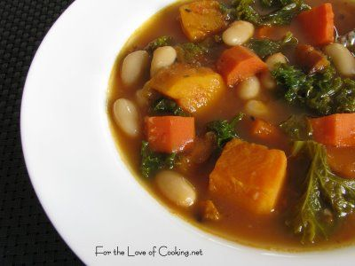 ... the Love of Cooking » Roasted Vegetable and Kale Soup and a Giveaway