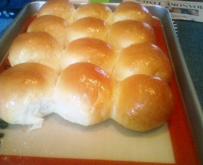 Homemade yeast rolls make a great addition to a ham dinner and make ...