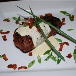Grilled Filet Mignon with Gorgonzola Cream Sauce Allrecipes.com