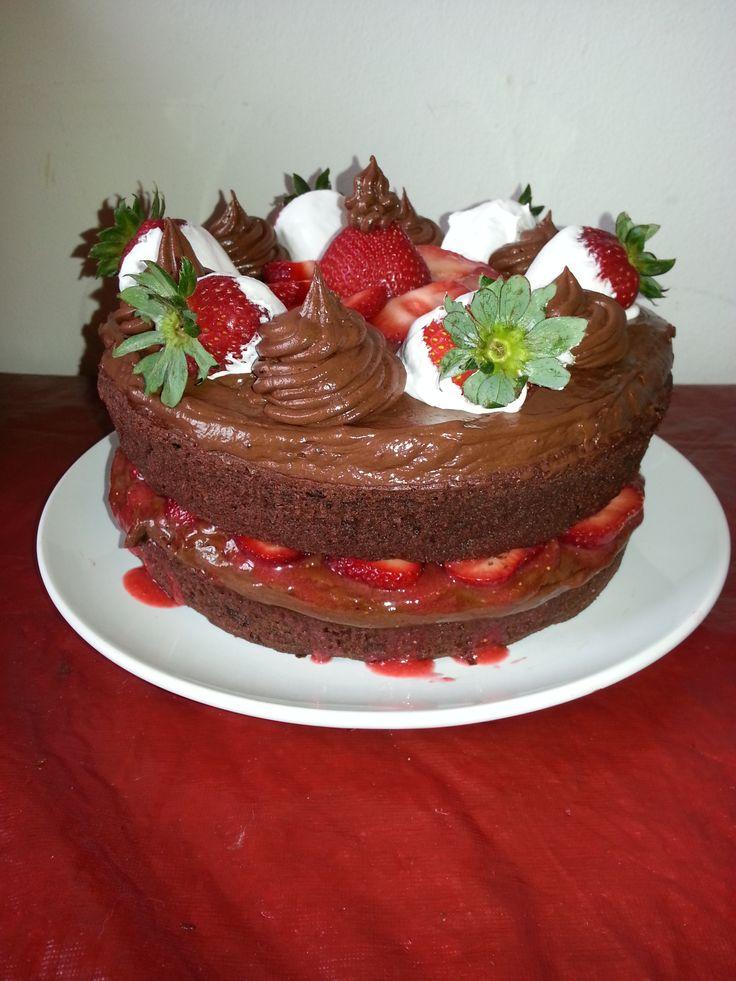 Chocolate Strawberry Shortcake! | Delicioso!!!! Mua!! | Pinterest
