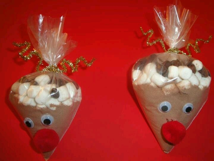 Reindeer hot chocolate :) | Holiday Giving | Pinterest