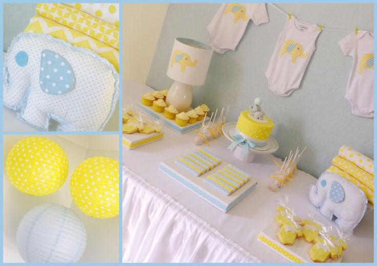 elephant themed baby shower with yellow elephant theme pinterest