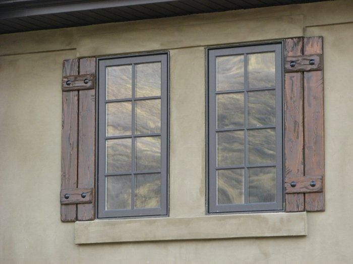 Rustic Shutters Home Exterior Pinterest
