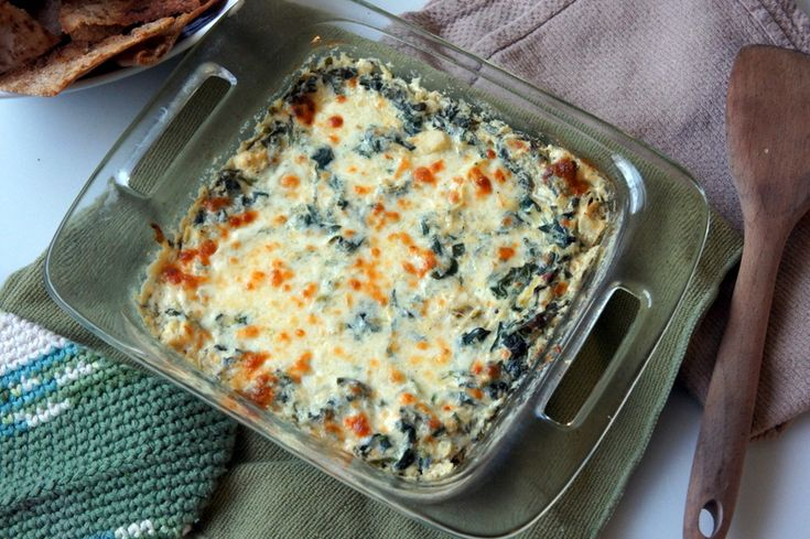 Skinny spinach and artichoke dip | Appetizers | Pinterest