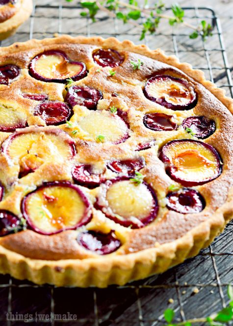 Honeyed Plum and Cherry Frangipane Tarts | tart & galette | Pinterest