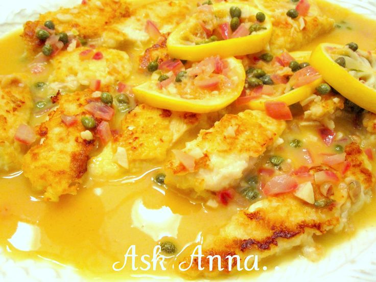 Chicken Piccata - Ask Anna   Om Nom Nom   Pinterest
