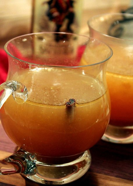 Hot Buttered Rum made with apple cider. ♥ Perfecting the Pairing