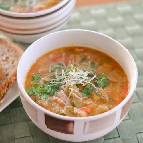a charm bracelet Minestrone Soup with Bacon and Kale  Kitchen Experiments