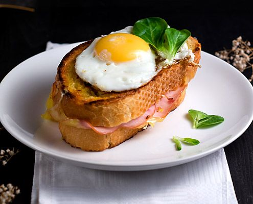 ... -McHugh serves up the classic French ham, cheese and egg sandwich