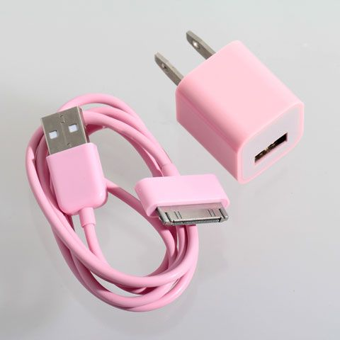 A pink iPhone charger?? Yes