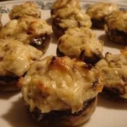Mouth-watering stuffed mushrooms... these are delish! Made them ...