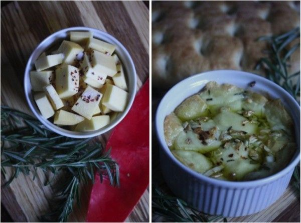 Baked Fontina With Rosemary, Garlic, And Chili Flakes Recipe ...