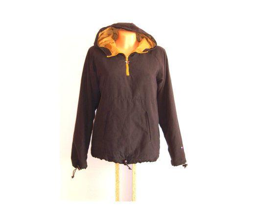vintage tommy hilfiger womans outdoor jacket sweatshirt raincoat 80s. Black Bedroom Furniture Sets. Home Design Ideas