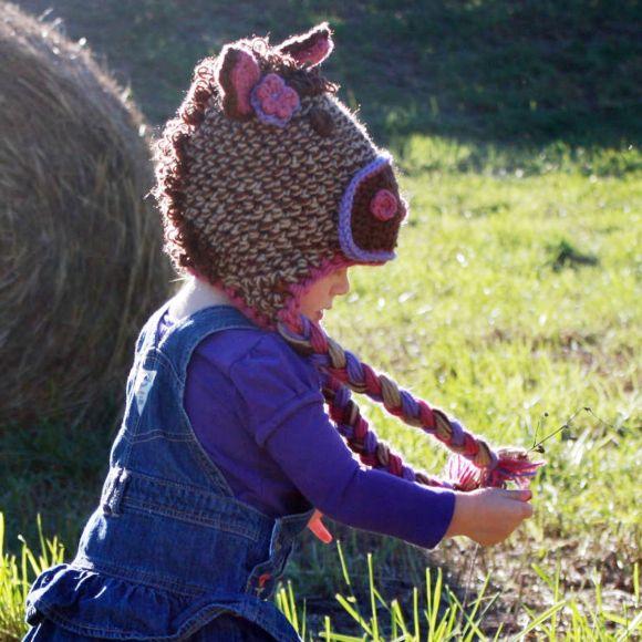 Free Crochet Pattern For Horse Hat : Horse hat! Knitting/crochet patterns Pinterest