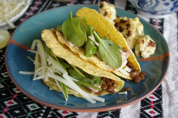 Spiced Lentil Tacos...I love lentils! such a great meat substitute ...