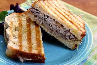 Roast Beef Panini With Caramelized Onions And Horseradish ...